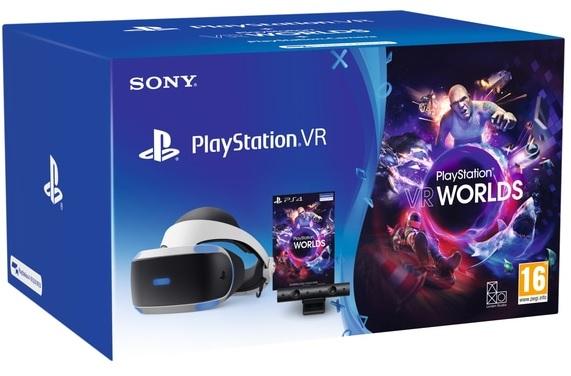 Sony Playstation 4 Virtual Reality Headset (ZVR2) + Camera V2 + VR Worlds