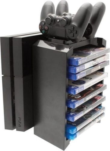 Venom Playstation 4 Games Storage Tower And Twin Charger