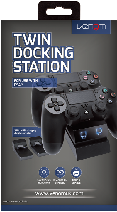 Venom PS4 Twin Docking Station Fekete (VS2732)