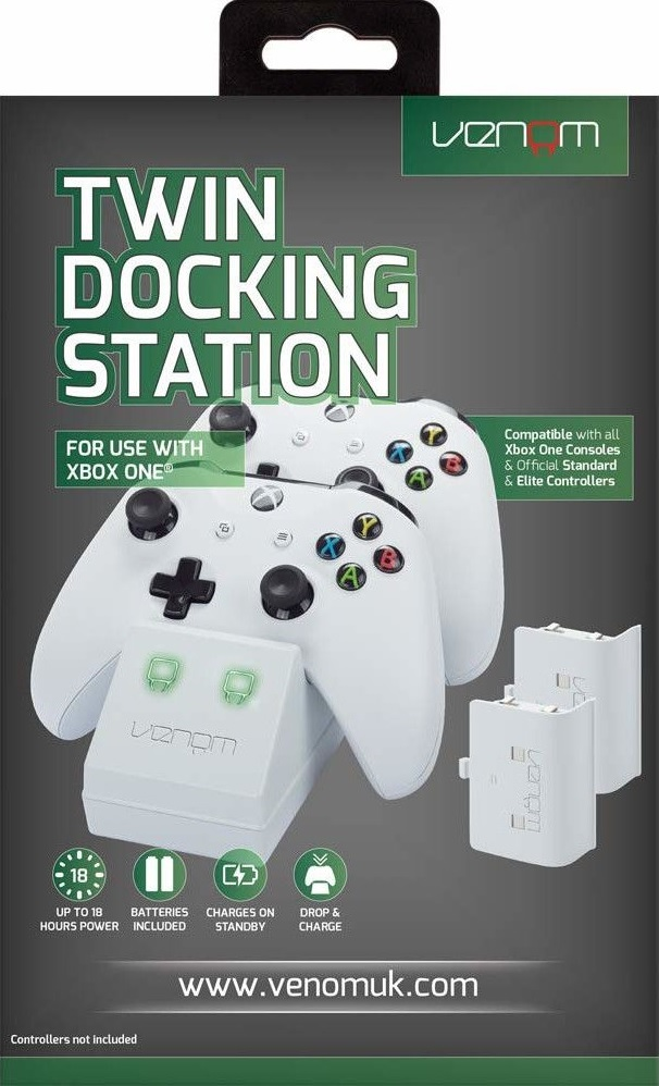 Venom Xbox One Twin Docking Station + 2db akkumulátor fehér (VS2859)
