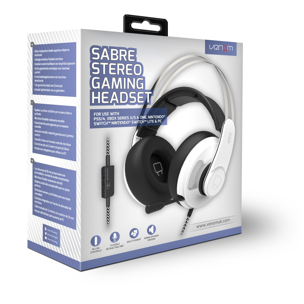 Venom VS2875 Sabre Gaming Headset (PC, PS4, Xbox One,Nintendo Switch)