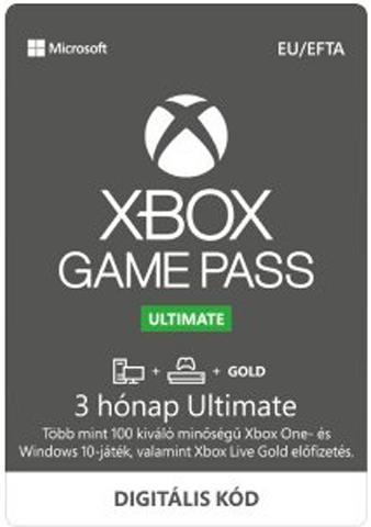 Microsoft Xbox Game Pass Ultimate 3 hónapos előfizetés (DIGITÁLIS KÓD)