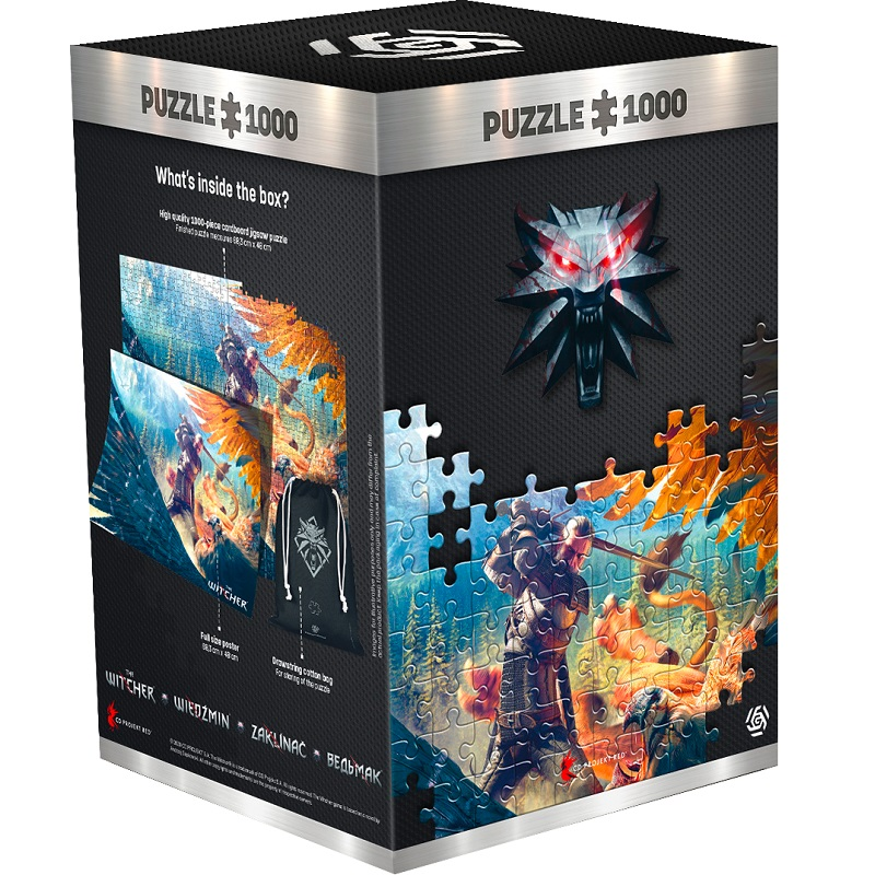 GLO The Witcher Griffin Fight 1000 DB Puzzle ( kirakó )