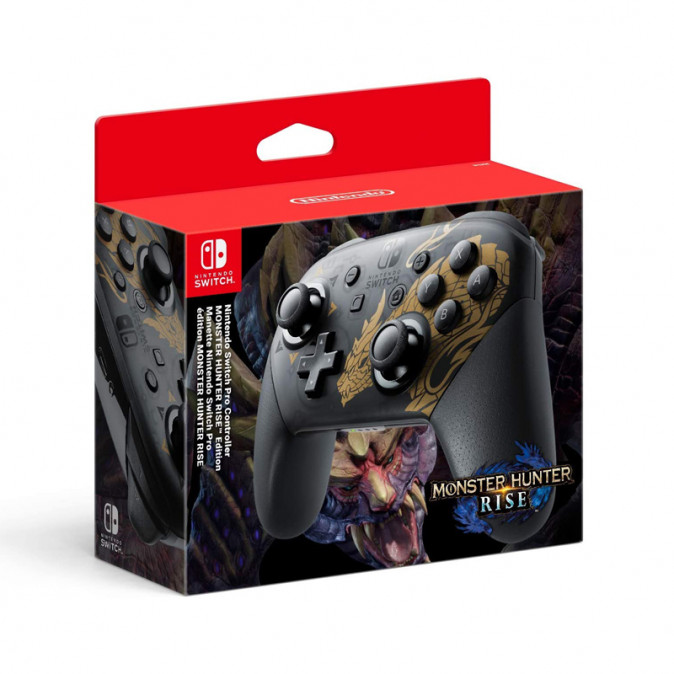 Nintendo Switch Pro Controller Monster Hunter Rise Edition