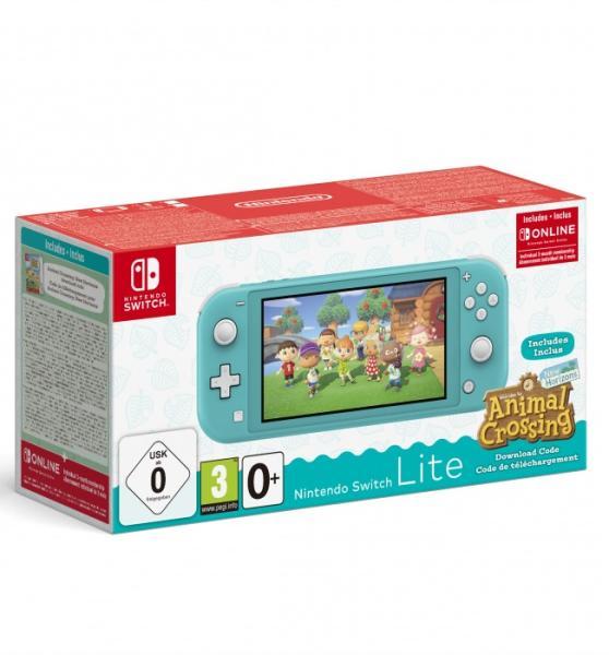 NINTENDO Switch Lite Türkiz + Animal Crossing New Horizons