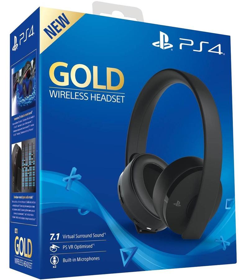 Sony Playstation 4  Gold Wireless Headset Virtual 7.1