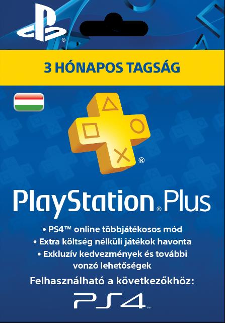 Sony Playstation Plus 3 hónapos előfizetés HUN
