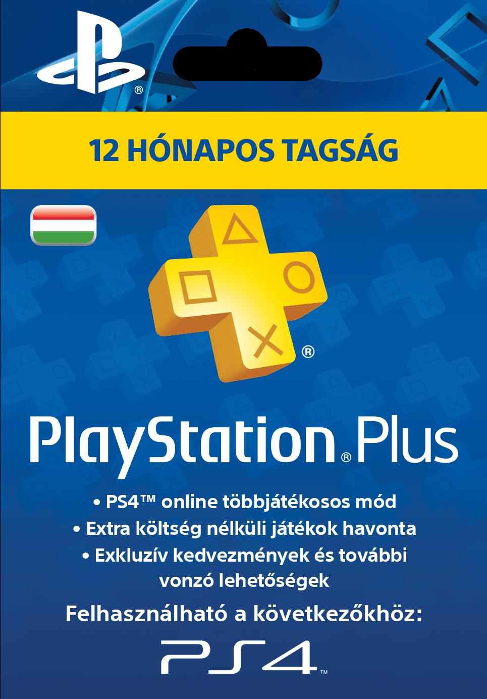 Sony Playstation Plus 12 hónapos előfizetés HUN