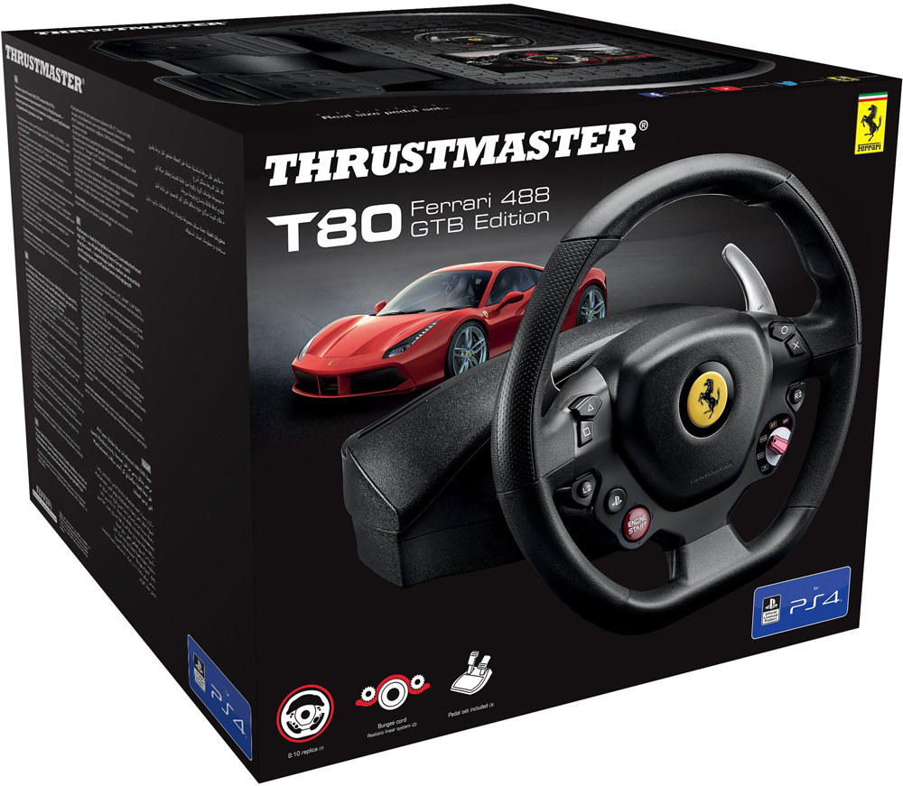 Thrustmaster T80 Ferrari 488 GTB Edition Playstation 4,PC (4160672)