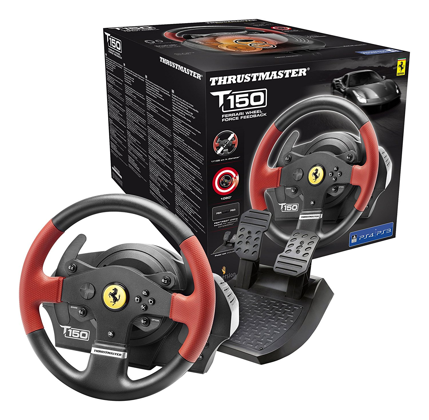 Thrustmaster T150 Ferrari Force Feedback Kormány PS4,PS3,PC (4160630)