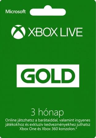 Microsoft (Xbox One és Xbox 360) 3 Hónapos Live Gold ( DIGITÁLIS KÓD )